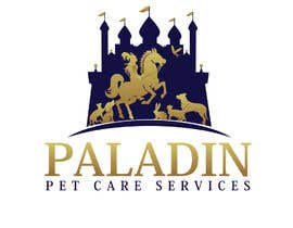 #35 for logo for Paladin Pet Care Services. A Pet Sitting & Dog Walking business. Would like a female knight riding a horse to feature. Must also include a dog, a cat & other pets. Looking for a unique, sophisticated logo with a royal flavour. by flyhy