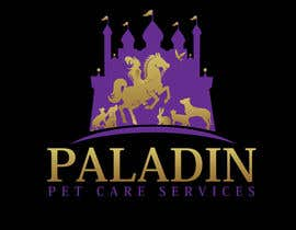 #60 for logo for Paladin Pet Care Services. A Pet Sitting & Dog Walking business. Would like a female knight riding a horse to feature. Must also include a dog, a cat & other pets. Looking for a unique, sophisticated logo with a royal flavour. by flyhy