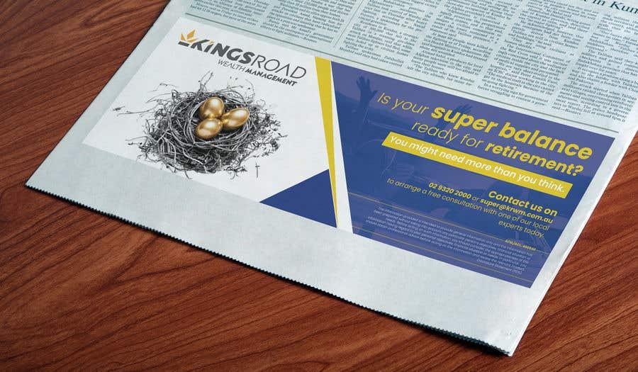 Penyertaan Peraduan #34 untuk Create a newspaper Ad