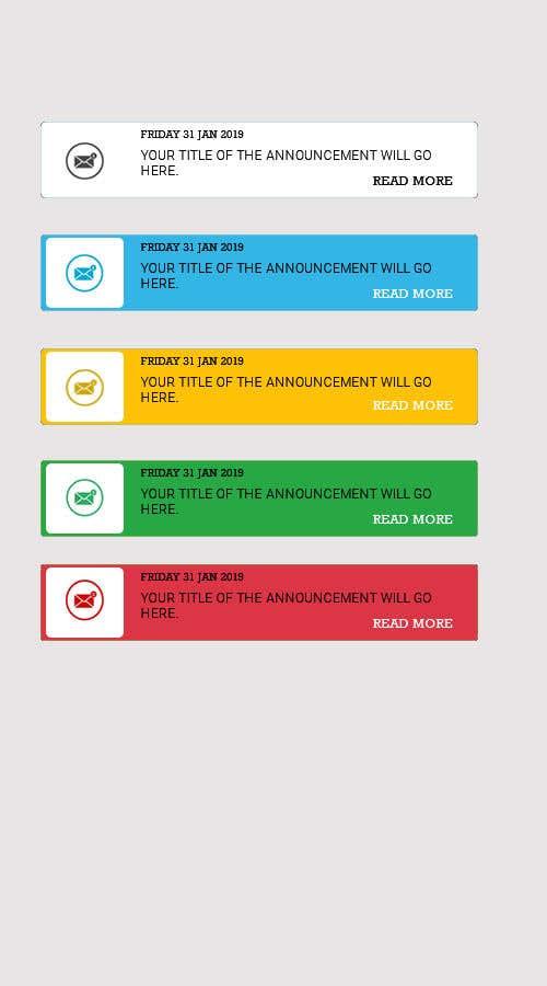 Penyertaan Peraduan #8 untuk Redesign an Announcement List Layout