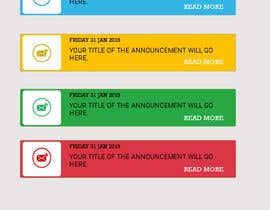 #8 untuk Redesign an Announcement List Layout oleh BParvatkar