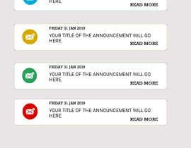 #10 untuk Redesign an Announcement List Layout oleh BParvatkar