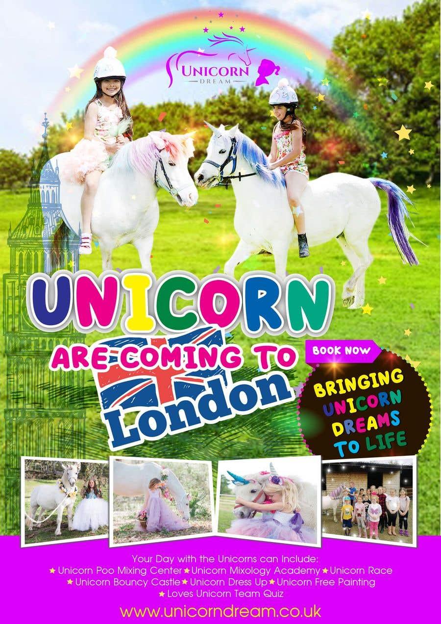 Kilpailutyö #26 kilpailussa Multiple Facebook and Istagram adverts needed kids Unicorn Event