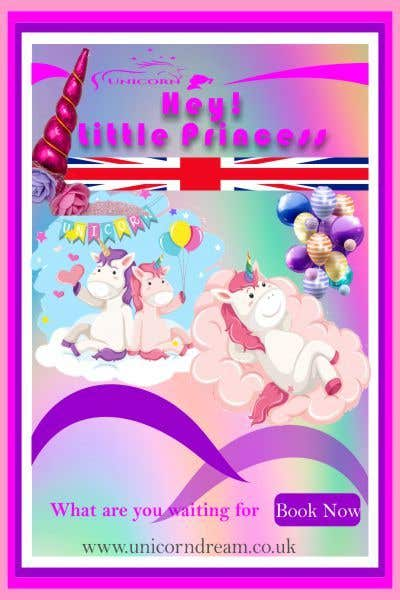 Kilpailutyö #6 kilpailussa Multiple Facebook and Istagram adverts needed kids Unicorn Event
