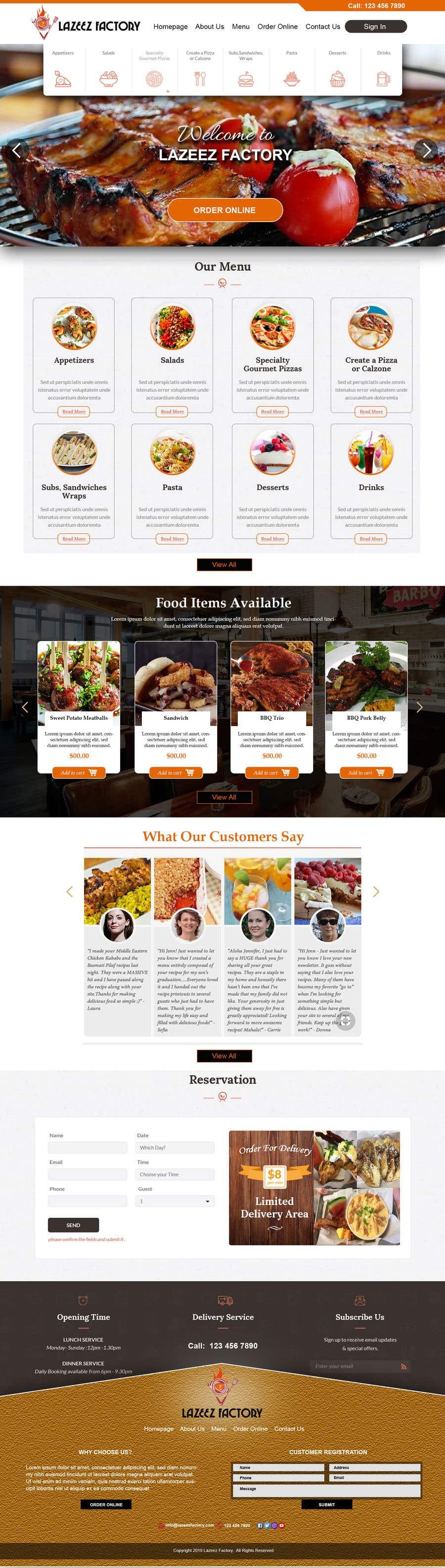 Konkurrenceindlæg #93 for Design A Website and Logo For Restaurant