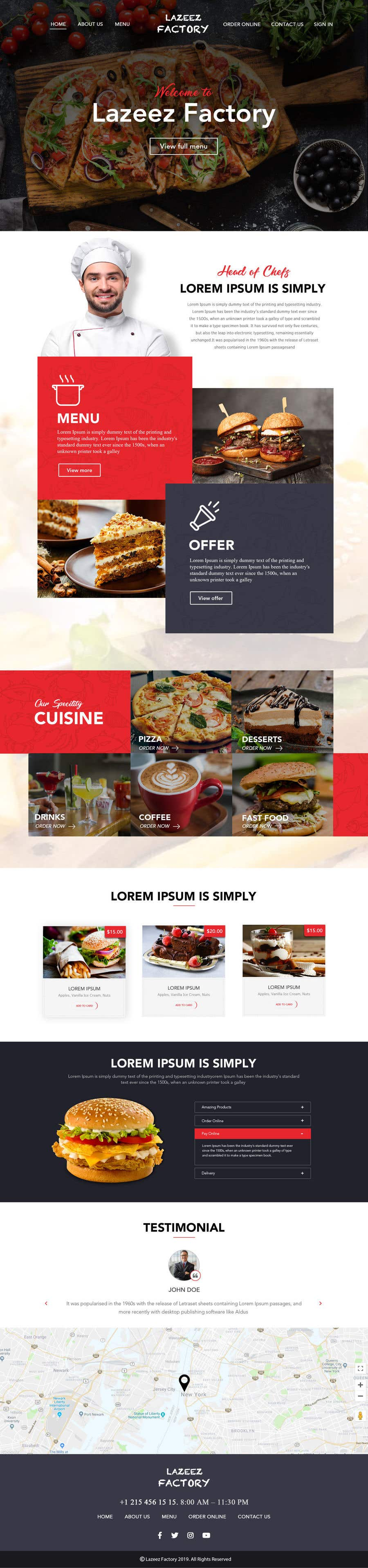 Конкурсная заявка №101 для Design A Website and Logo For Restaurant