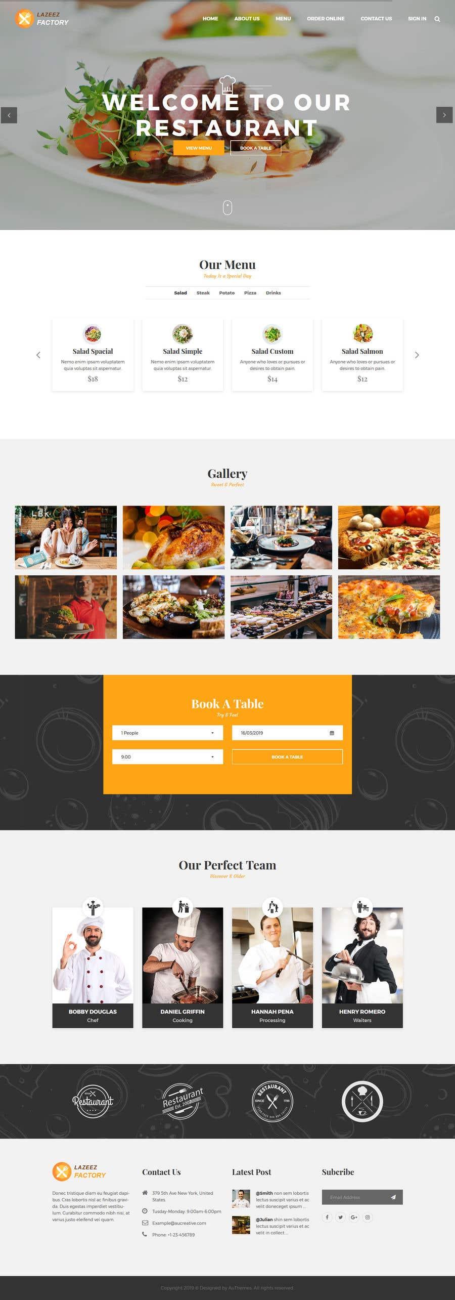 Konkurrenceindlæg #43 for Design A Website and Logo For Restaurant