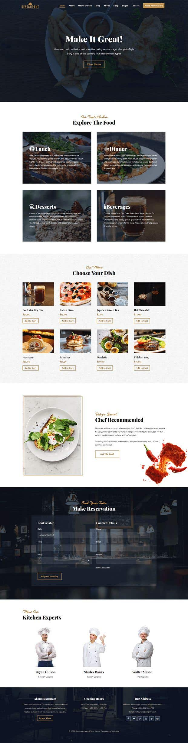 Конкурсная заявка №48 для Design A Website and Logo For Restaurant