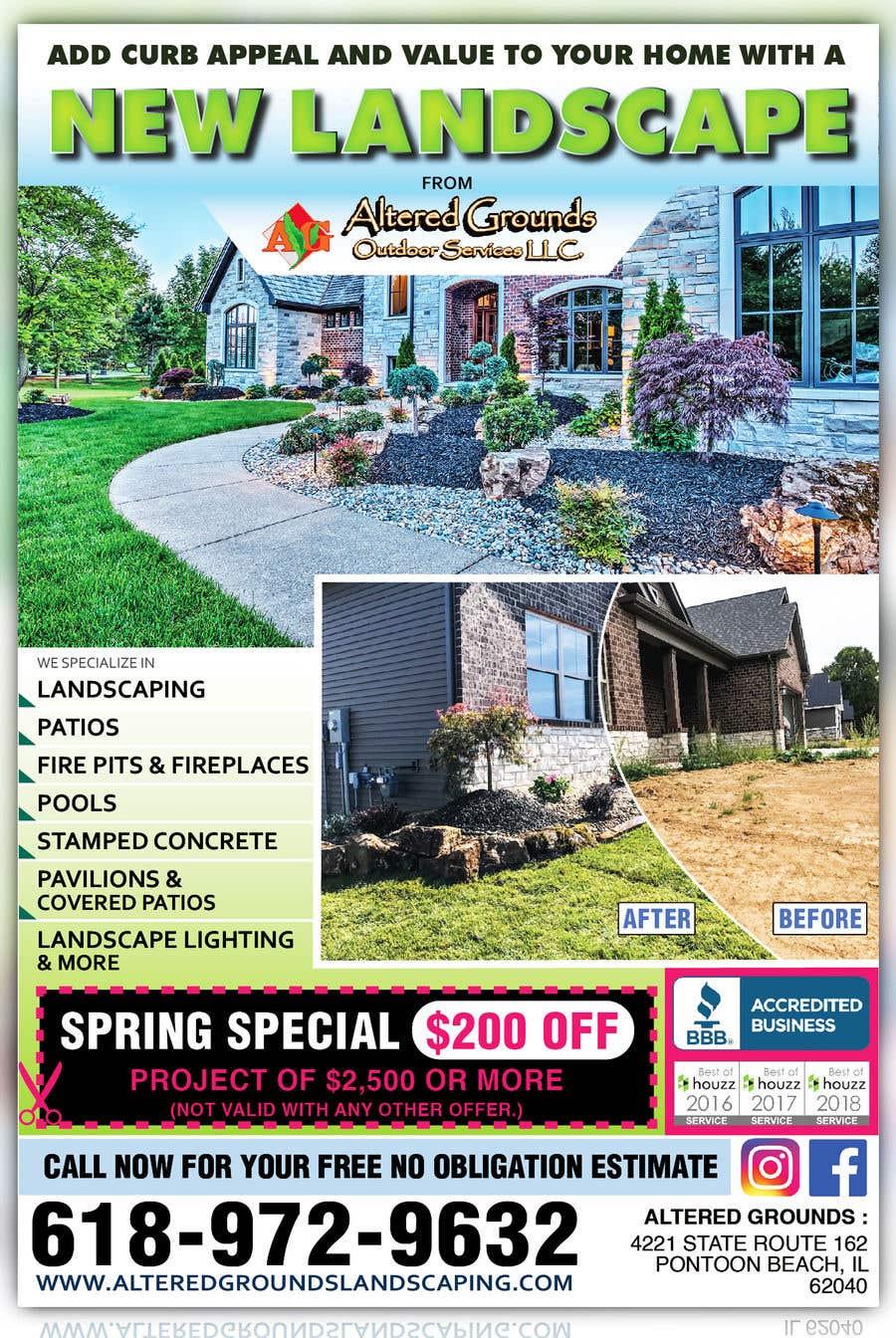 Конкурсная заявка №30 для Design Print Ad For Landscaping Business