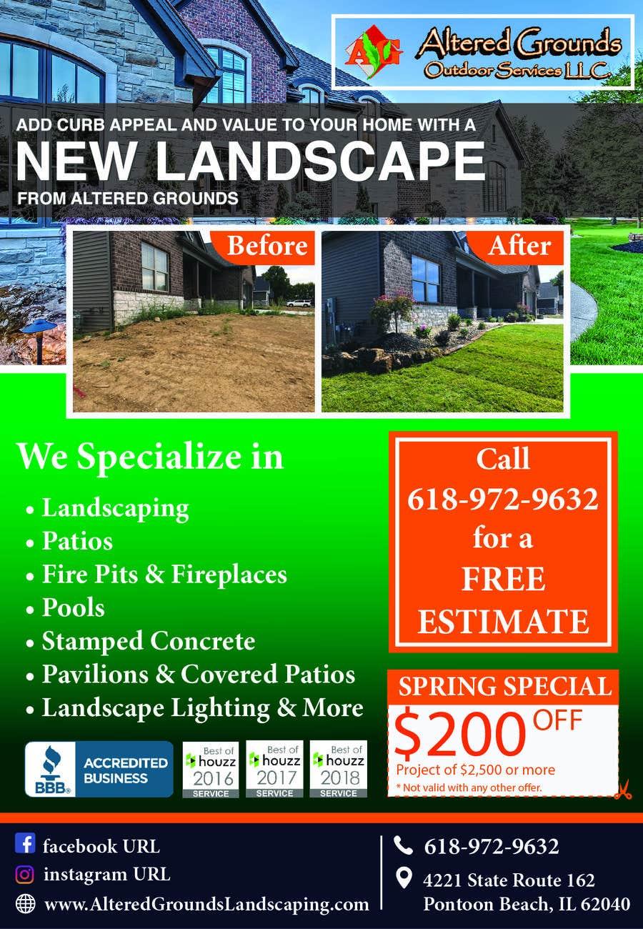 Конкурсная заявка №20 для Design Print Ad For Landscaping Business