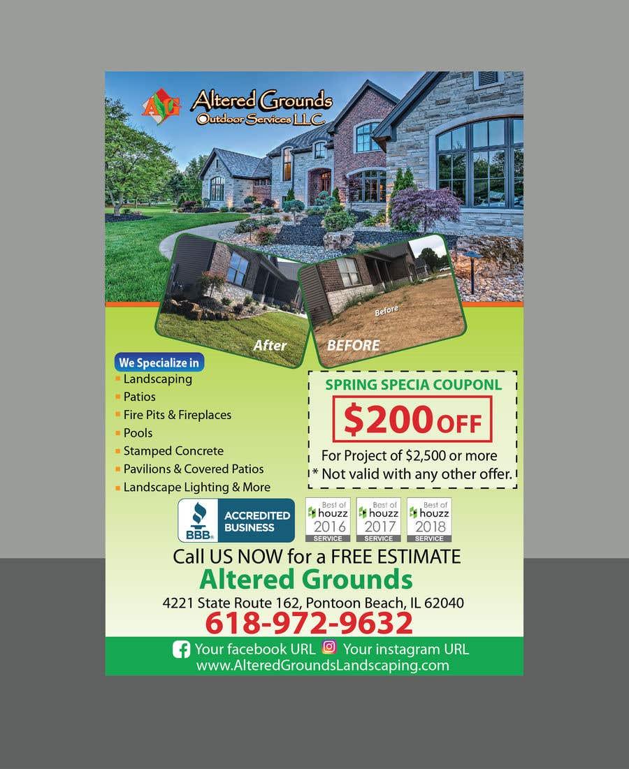 Конкурсная заявка №15 для Design Print Ad For Landscaping Business