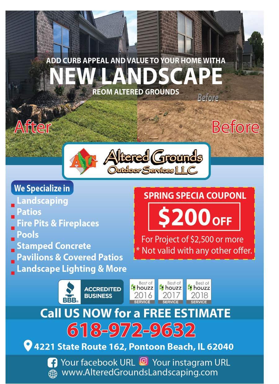 Конкурсная заявка №28 для Design Print Ad For Landscaping Business