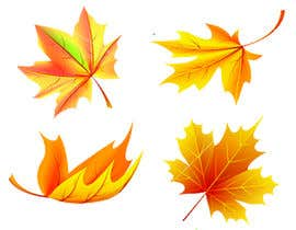 nº 30 pour Original icon for: Gold maple leaf 'in the wind' par mehedi24680