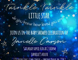 #20 untuk An Amazing twinkle twinkle little star baby shower invitation oleh SeleneChacin