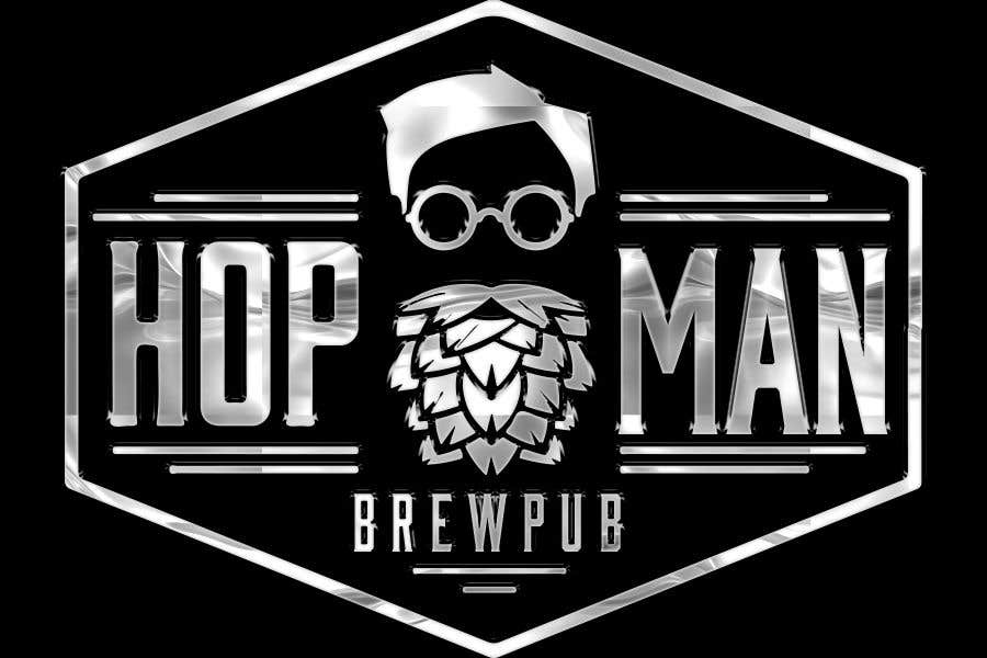 "Intrarea #33 pentru concursul ""As you can see, we have a logo, but we need to change the slogan of it and some words. Instead of Hop Doc  - we want it to be Hop Man. And slogan should be Brewpub. If we will like your style - we will work a lot in the future!"""