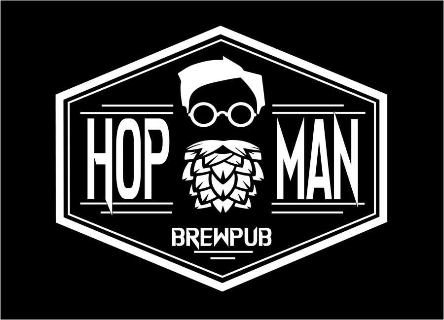 """Intrarea #14 pentru concursul """"As you can see, we have a logo, but we need to change the slogan of it and some words. Instead of Hop Doc  - we want it to be Hop Man. And slogan should be Brewpub. If we will like your style - we will work a lot in the future!"""""""