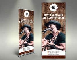 #31 untuk Vertical Banner Signage for Country Band oleh alomgirdesigner