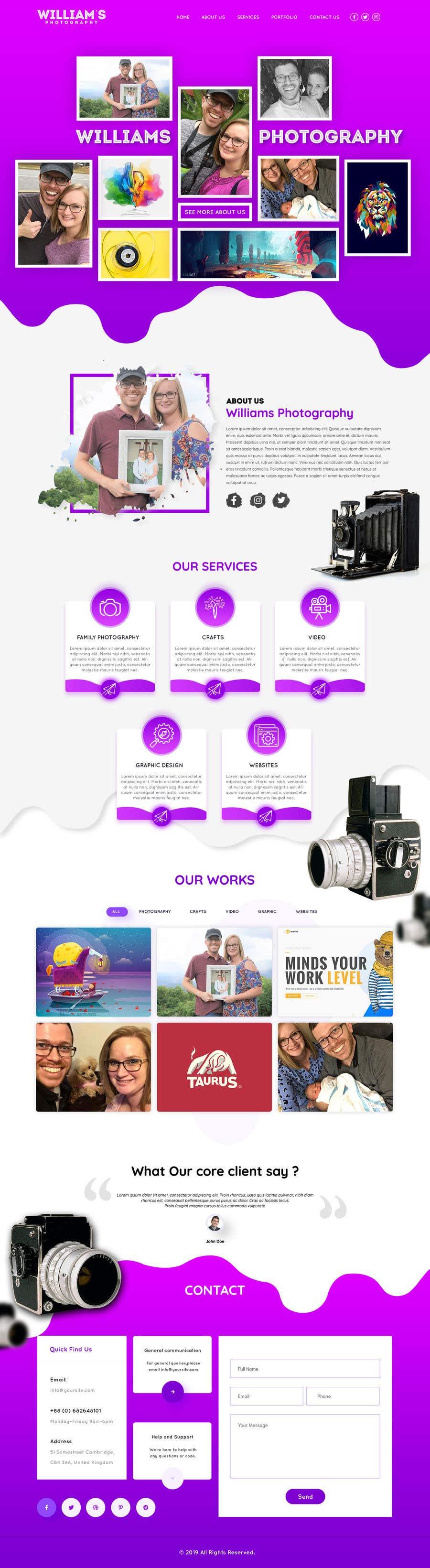 Kilpailutyö #27 kilpailussa Design Clean, Minimalist, Professional Website Layout and Logo