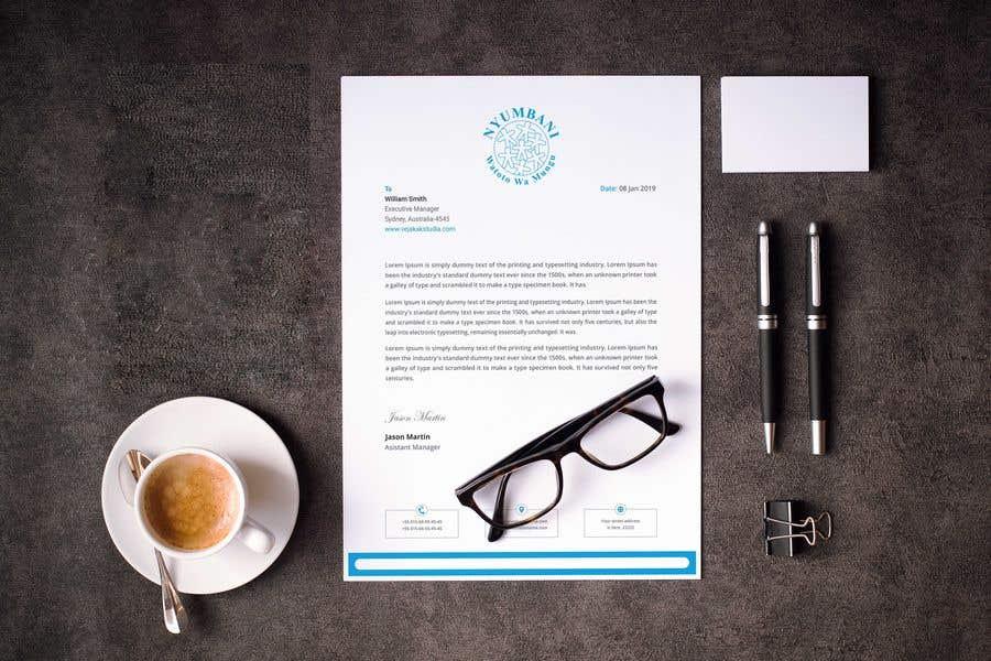 Penyertaan Peraduan #191 untuk design letterhead