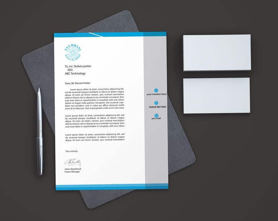 Penyertaan Peraduan #84 untuk design letterhead