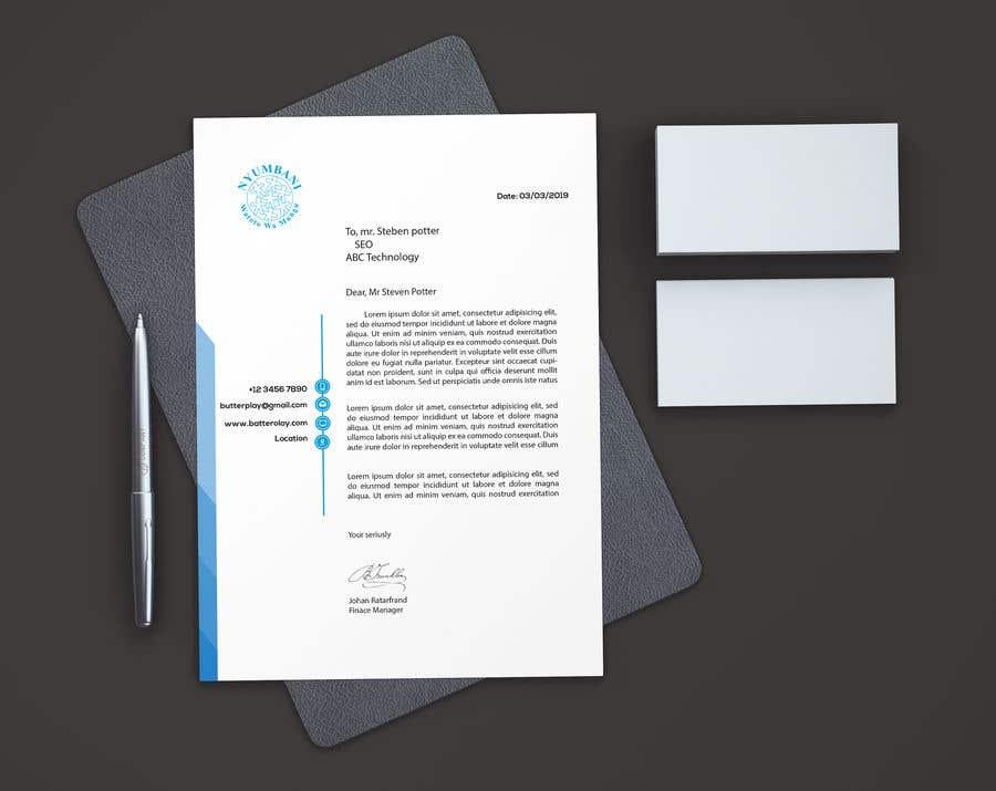 Penyertaan Peraduan #112 untuk design letterhead