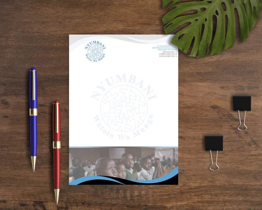 Penyertaan Peraduan #114 untuk design letterhead