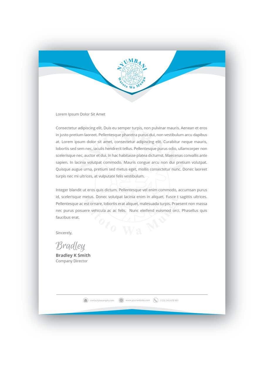 Penyertaan Peraduan #74 untuk design letterhead