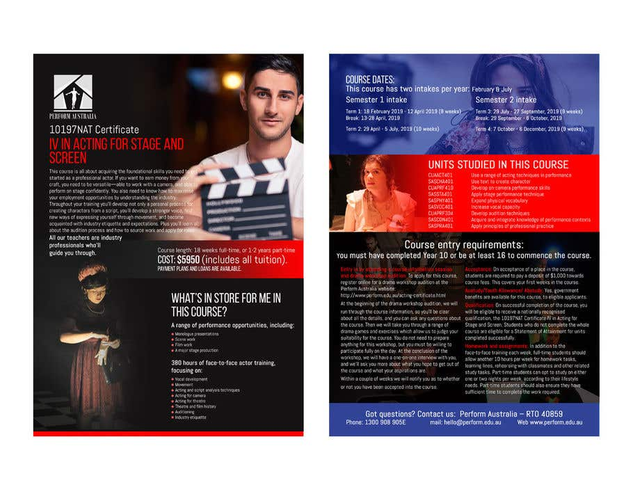 Entry #21 by pipra99 for A4 brochure for performing arts school