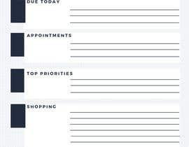 #4 untuk design a Print Ready DL size Daily Planner oleh apusha