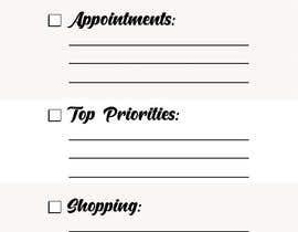 #8 untuk design a Print Ready DL size Daily Planner oleh tutzhub