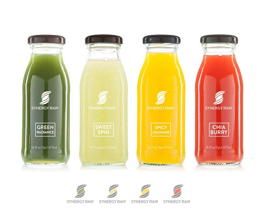 Penyertaan Peraduan #149 untuk Design of a logo and label for a juice bottle / company