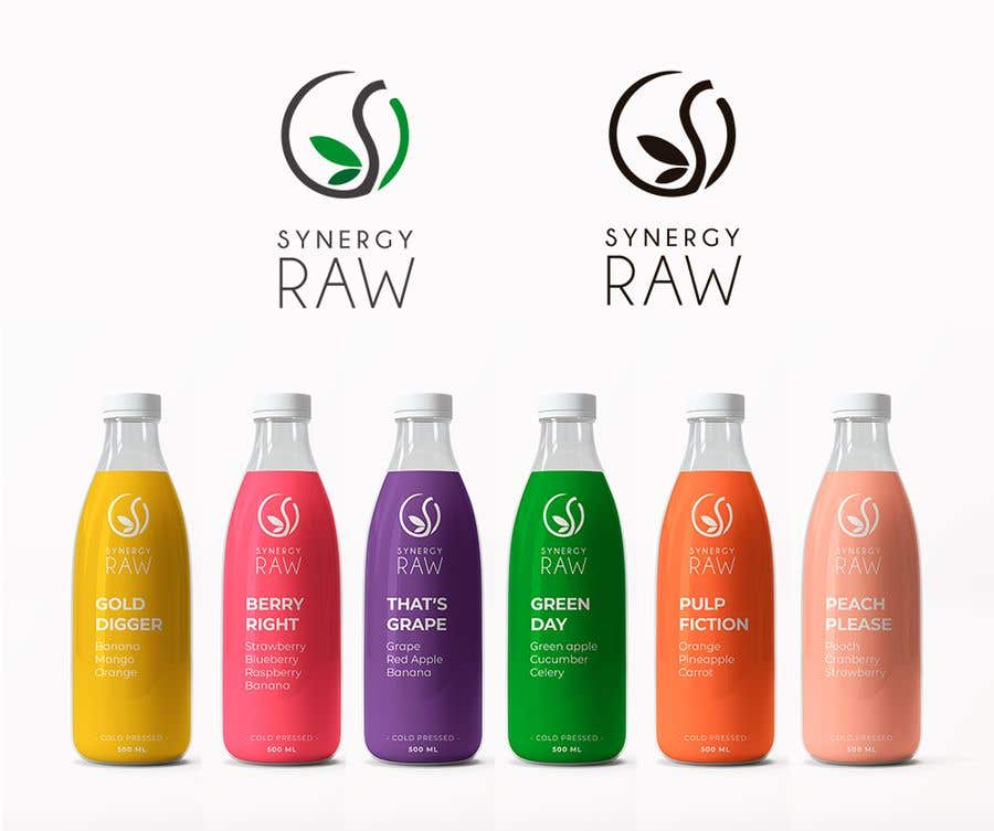 Penyertaan Peraduan #137 untuk Design of a logo and label for a juice bottle / company