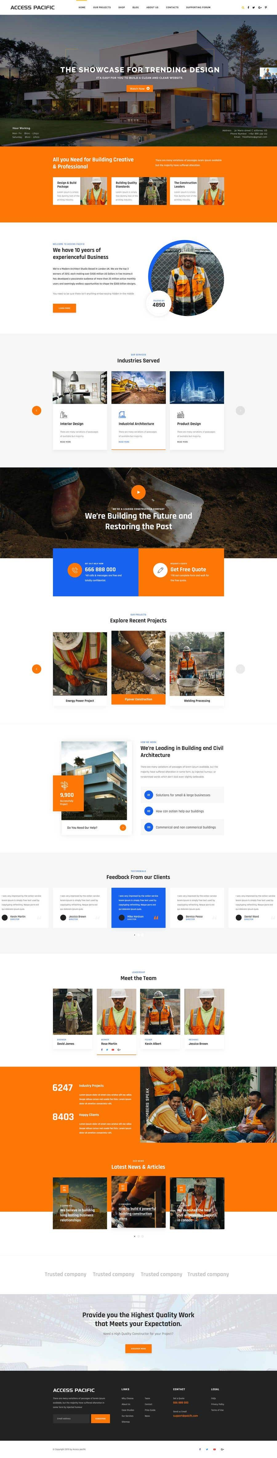 Konkurrenceindlæg #44 for Design a new homepage for a construction company.