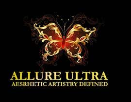 #8 for upscale beauty comp. love butterfly and Allure Ultra font but thicker/bold.would like the A and U in Allure Ultra to be elegant cursive font.slogan's font to be an elegant/easy to read font.colors royal blue and gold.more space between sloganandcomp name by eclipssazzad11