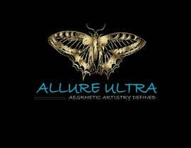 #19 for upscale beauty comp. love butterfly and Allure Ultra font but thicker/bold.would like the A and U in Allure Ultra to be elegant cursive font.slogan's font to be an elegant/easy to read font.colors royal blue and gold.more space between sloganandcomp name by eclipssazzad11