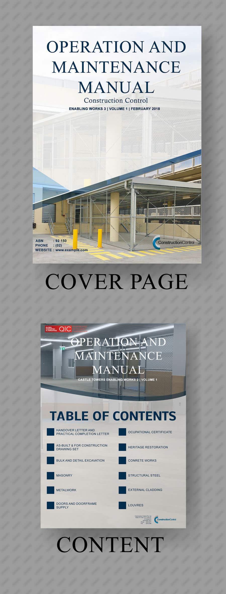 Bài tham dự cuộc thi #18 cho Cover Page & Contents Page Design