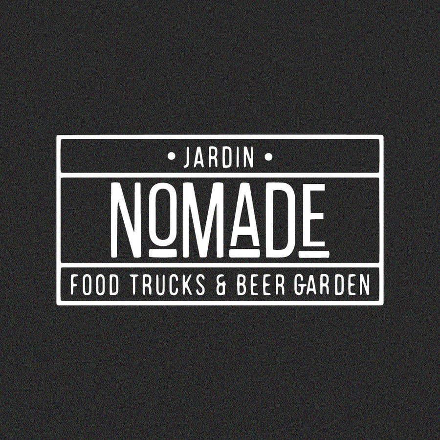 """Contest Entry #21 for A partir del logo adjunto debe crear uno que incluye todo menos """"nro.170"""", """"mallinkrodt"""" cambia por """"nomade"""", """"craft beer"""" cambia por """"beer garden"""" es decir, incluir: jardin, Nomade, food trucks & beer garden"""