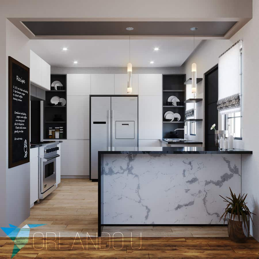 Penyertaan Peraduan #17 untuk Interior Design of our New Kitchen