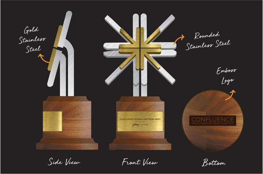 Penyertaan Peraduan #2 untuk Design a trophy for a corporate awards event - Urgent