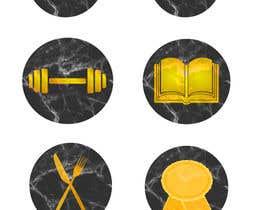 alex0121 tarafından all logos in gold on black marble background için no 22