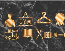 Fardous772 tarafından all logos in gold on black marble background için no 27