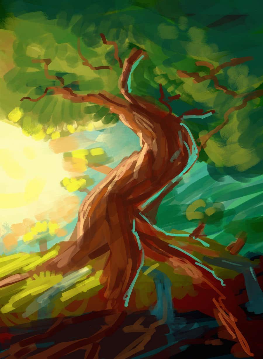 Proposition n°14 du concours Illustrate Tree for Card Back in a Game