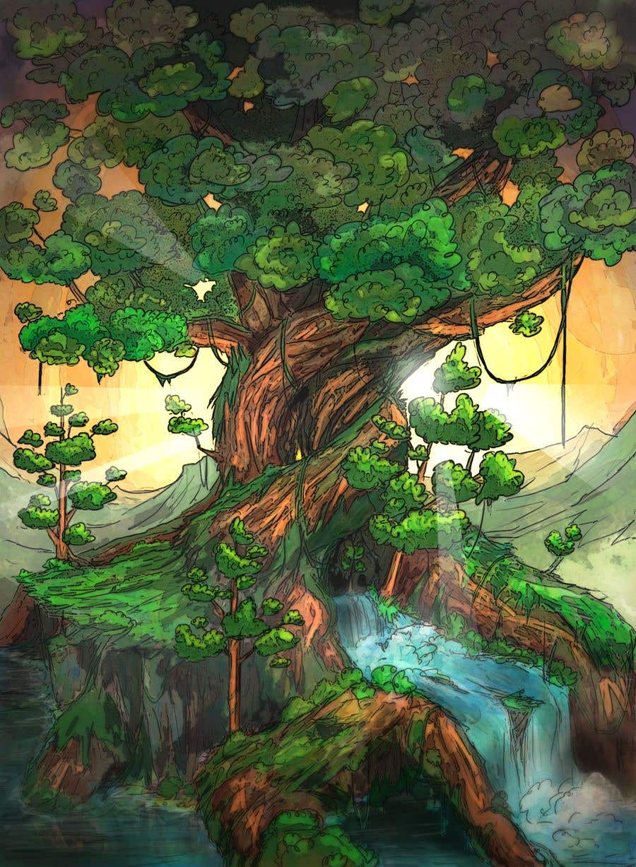 Proposition n°13 du concours Illustrate Tree for Card Back in a Game