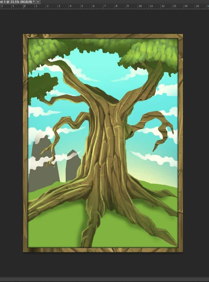 Proposition n°4 du concours Illustrate Tree for Card Back in a Game
