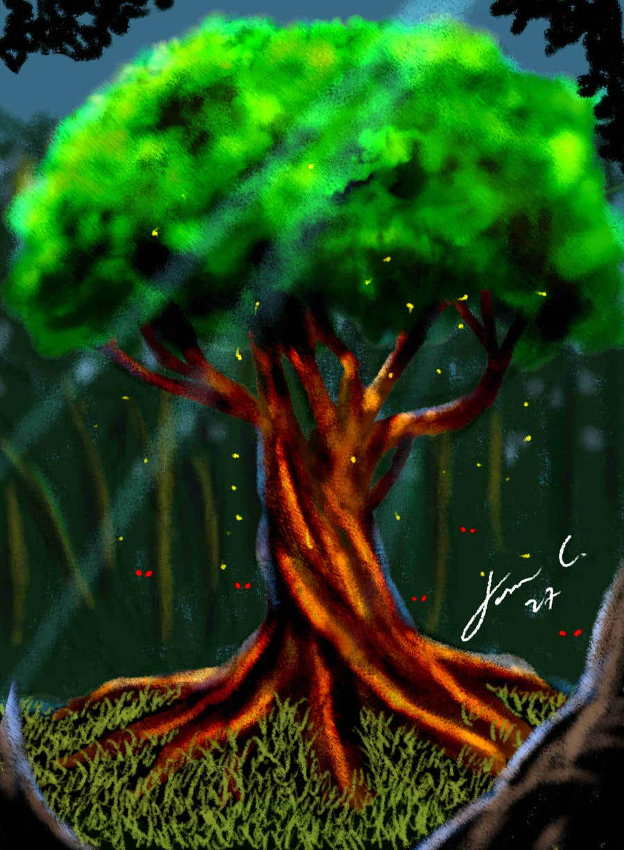 Proposition n°20 du concours Illustrate Tree for Card Back in a Game