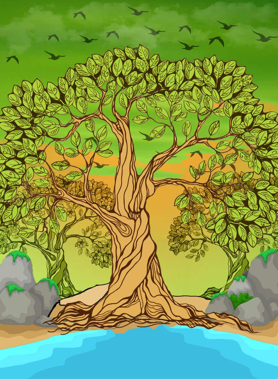 Proposition n°1 du concours Illustrate Tree for Card Back in a Game