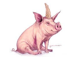 #57 for Illustration of a Pig Unicorn. (Pig with Horn) af cbernardini