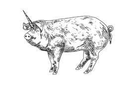 #39 for Illustration of a Pig Unicorn. (Pig with Horn) af berragzakariae