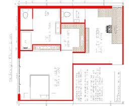#46 for Redesign floor plan of parents retreat including bathroom, study and walk in wardrobe af misalpingua03