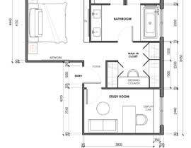 #35 for Redesign floor plan of parents retreat including bathroom, study and walk in wardrobe af JakeTagadan